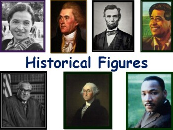 Historical Figures Lesson & Flashcards-task cards, study g