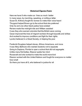 Historical Figures Poem