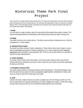 Historical Theme Park Final Project