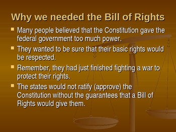 History Alive - Bill of Rights