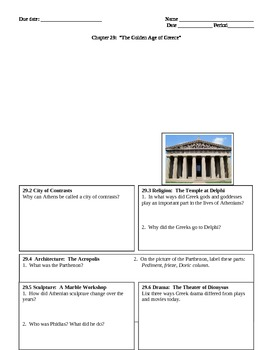 History Alive--Chapter 29 The Golden Age of Athens Graphic