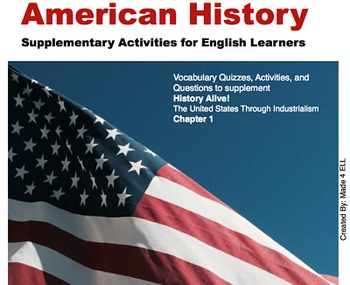 History Alive: The US through Industrialism Chapter 1 for ELL
