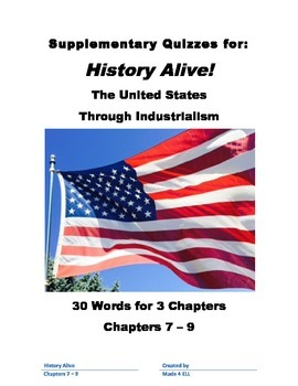 History Alive: The US through Industrialism Chapters 7-9 V