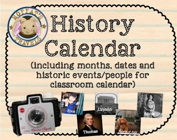 History Calendar (months, dates and historic birthdays,eve