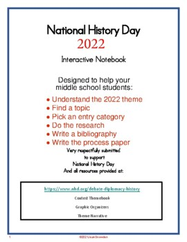 History Day 2017 Interactive Notebook