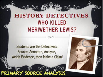 HISTORY DETECTIVE: Death of Meriwether Lewis (Lewis & Clar