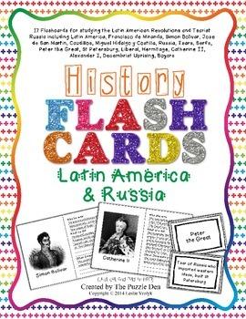 History Flashcards - Latin American Revolutions and Tsaris