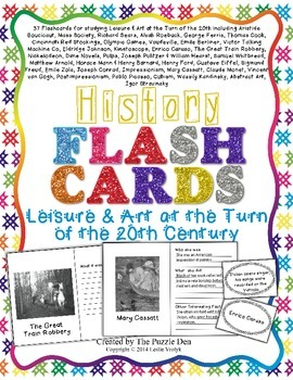 History Flashcards - Leisure & Art at the Turn of the 20th