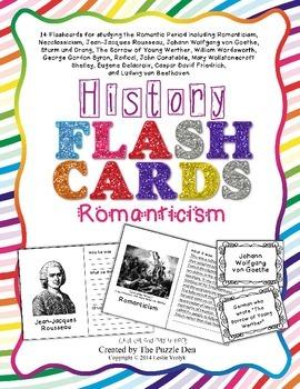 History Flashcards - Romanticism