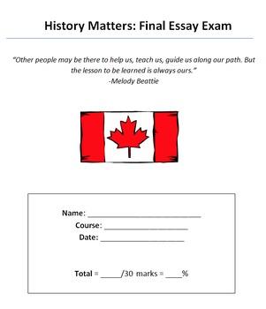 Final Essay Exam (Theme: History Matters)