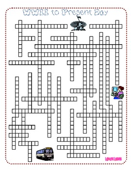 History Review Crossword Puzzle - World War II to Present Day