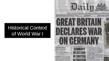 History: The Historical Context of WWI