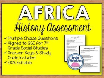 History of Africa Assessment (Editable)