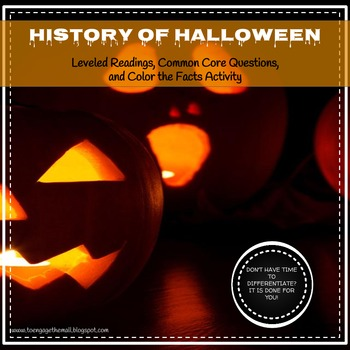 History of Halloween: Leveled Readings and Differentiated