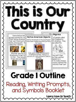 History of Our Country Outline and Printables K-2