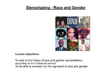 History of Race and Gender - Media/Film Studies