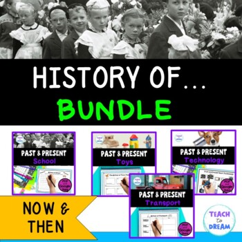 History of School, Transport, Technology and Toys: BUNDLE