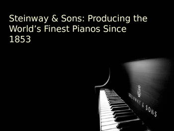 History of Steinway Pianos