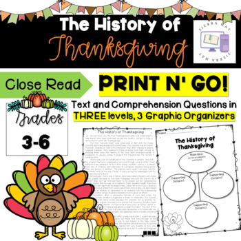 History of Thanksgiving Comprehension Bundle