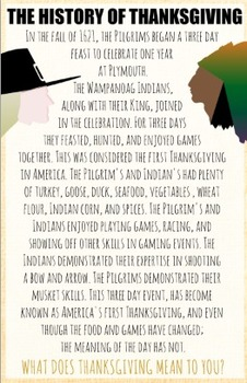 History of Thanksgiving Poster