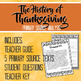 History of Thanksgiving Primary Source Analysis x5