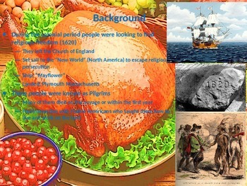 History of Thanksgiving- with activities (elementary & ado