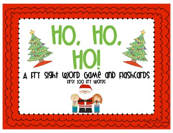 Ho, Ho, Ho! A Christmas Fry Sight Word Game