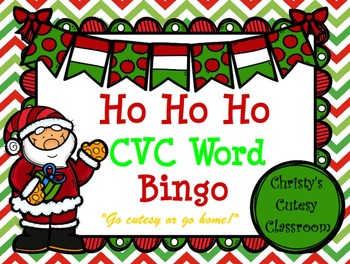 Ho Ho Ho CVC Word Bingo