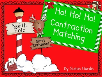 Ho! Ho! Ho! Contraction Matching Literacy Center