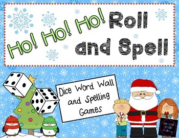 Christmas Word Wall and Spelling Word Dice Games