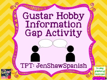 Gustar Hobbies Information Gap Spanish Avancemos Unidad 1