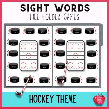 Hockey Extreme High Frequency Dolch File Folder Games Kit