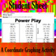 Power Play - A Coordinate Graphing Activity