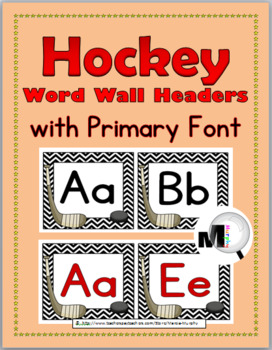 Hockey Theme Word Wall Headers