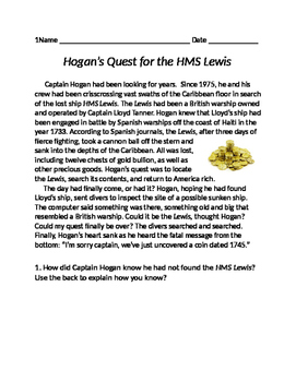 Hogan's Quest Story (Inference)