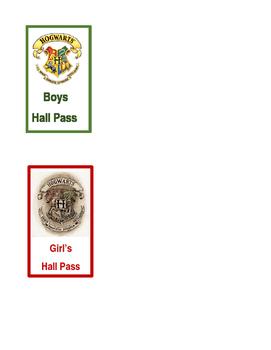 Hogwarts Hall Pass