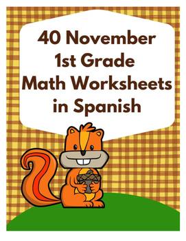 Hojas y centros de matemáticas para noviembre- Primero Gra