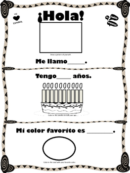 Hola Intro - Basic Spanish Review of a few important sentences