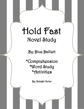 Hold Fast Novel Study