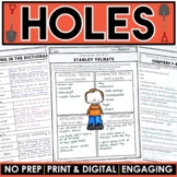 Holes MEGA Activity Packet: A Novel Study of the book by L