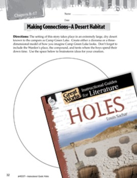 Holes Making Cross-Curricular Connections (eLesson)