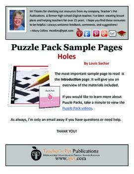 Holes Puzzle Pack Sampler