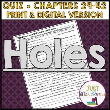 Holes Quiz 3 (Ch. 29-42)