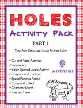Holes by Louis Sachar Activity Bundle Part 1 Ch 1-28