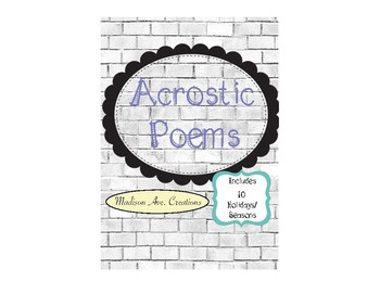 Holiday Acrostic Poems