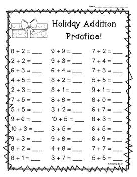 Holiday Addition Practice - 3 Leveled Worksheets!