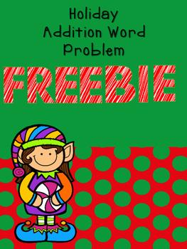 Holiday Addition Word Problem--Freebie
