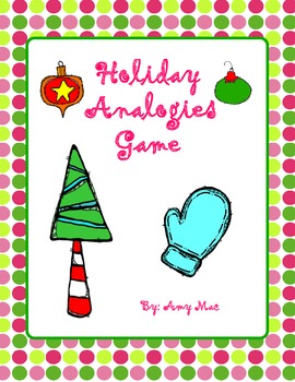 Holiday Analogies Game (with task cards)