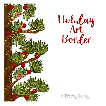 Holiday Art Border, holiday clip art Printable Tracey Gurl