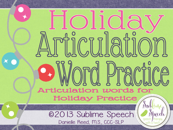 Holiday Artic Word Practice